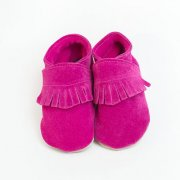 baby shoes soft leather moccasin pink