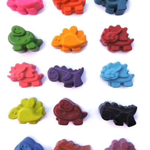 Dinosaur Crayons made in Britain with 100% non toxic wax
