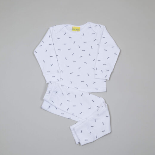 pickle sprinkle on white base cotton pyjama