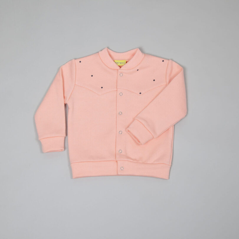 coral bomber jacket with western inspiration