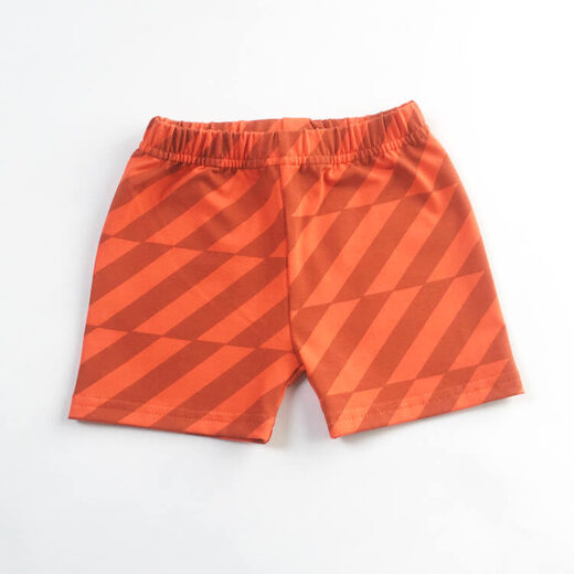 grey stripes printes on bright orange leggings